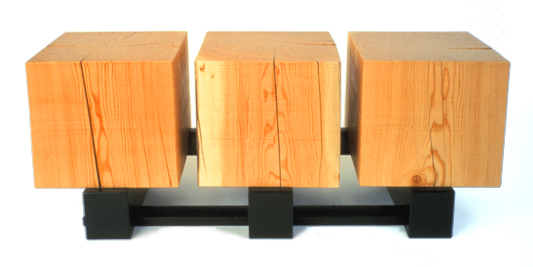 Three of a Perfect Pair - Wood Coffee Table - by Brad Reed Nelson
