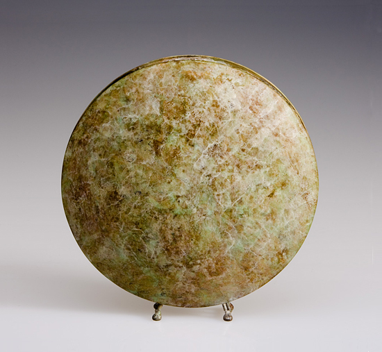 White Ochre Moon Vase - Brass Vessel - by David M Bowman and Reed C Bowman