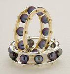 Gold or Silver & Pearl Ring by Patricia Madeja