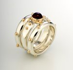 Silver, Gold & Stone Rings by Linda Smith