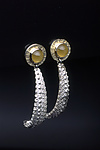 Gold, Silver & Stone Earrings by Hratch Babikian