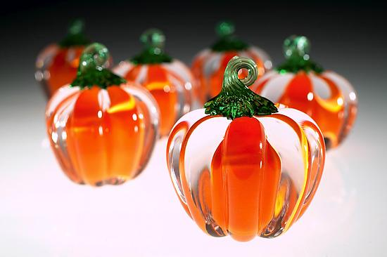 Pumpkins - Art Glass Paperweight - by Justin Tarducci, Michael Richardson and Tim Underwood