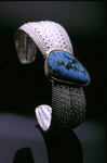 Silver & Stone Cuff by Hratch Babikian