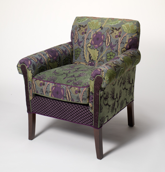 Salon Chair Rising Lily - Upholstered Chair - by Mary Lynn O'Shea