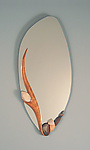 Ceramic & Wood Mirror by Jan Jacque
