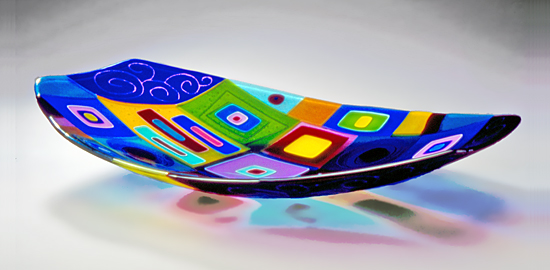 Boat Sculpture - Art Glass Sculpture - by Barbara Galazzo