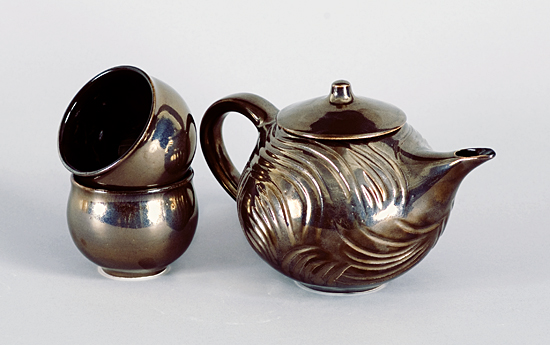 Gracious Tea Set - Ceramic Tea Set - by Judith Weber