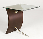 Wood Side Table by Nathan Hunter