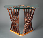 Wood & Glass Hall Table by Seth Rolland