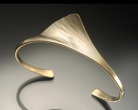 Ginkgo Cuff - Gold or Silver Cuff - by Stephen LeBlanc