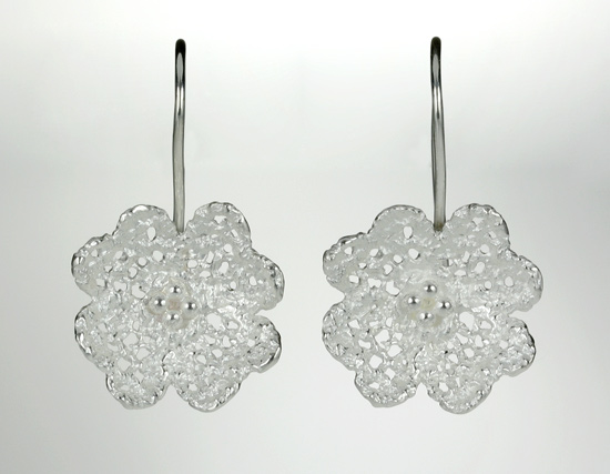 Buttercup Lace Earrings - Silver Earrings - by Sarah Richardson