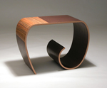 Wood Side Table by Kino Guerin