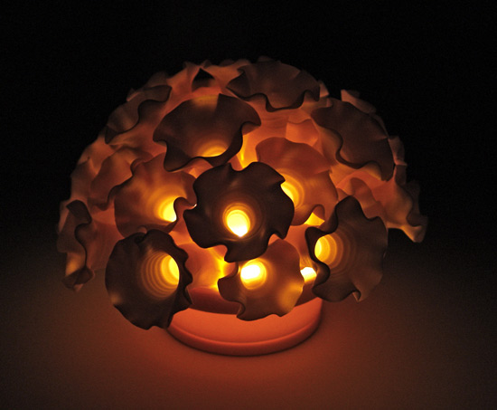 Flowers Tea Light - Ceramic Light - by Lilach Lotan