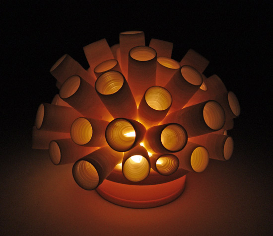 Tubes Tea Light - Ceramic Light - by Lilach Lotan