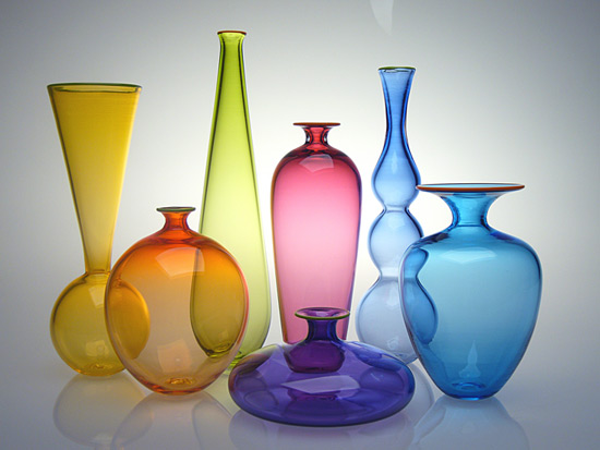 Transparent Miniature Form Study - Art Glass Vase - by Nicholas Kekic