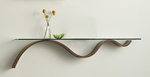 Wood & Glass Shelf by Richard Judd