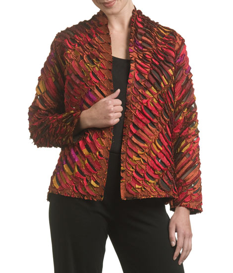 Scarlet Saki Jacket - Silk jacket - by Tim Harding