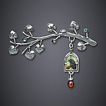 Silver Brooch by Dawn Estrin