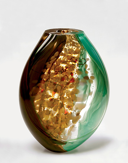 Borsetta - Art Glass Vase - by Randi Solin
