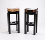Wood Stool by Enrico Konig