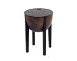 Wood Stool by Brandon Phillips