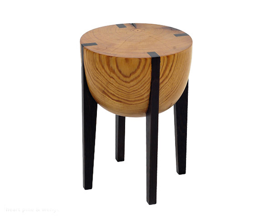 Heart Pine & Wenge RD Stool - Wood Stool - by Brandon Phillips