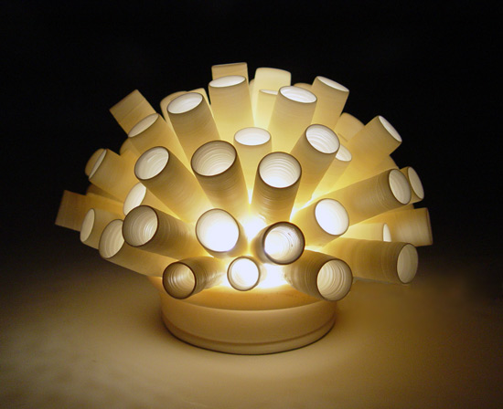 Tubes Mini-light - Ceramic Lamp - by Lilach Lotan