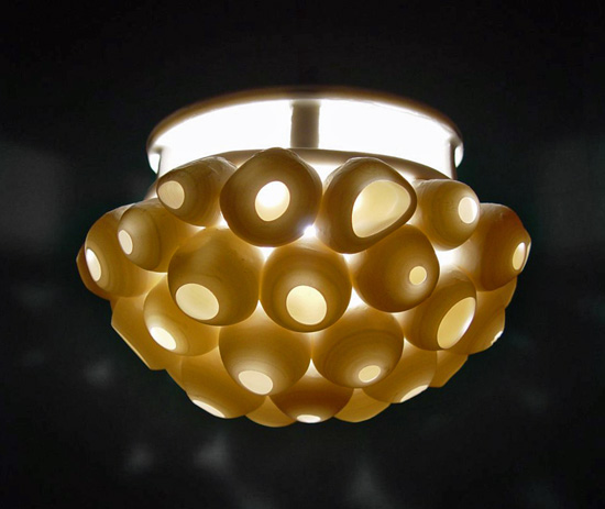 Barnacles Pendant Lamp - Ceramic Pendant Lamp - by Lilach Lotan
