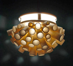 Ceramic Pendant Lamp by Lilach Lotan