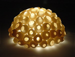 Ceramic Wall Light by Lilach Lotan