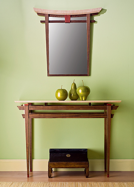 Torii Mirror and Table - Wood Furniture - by Bayley Wharton