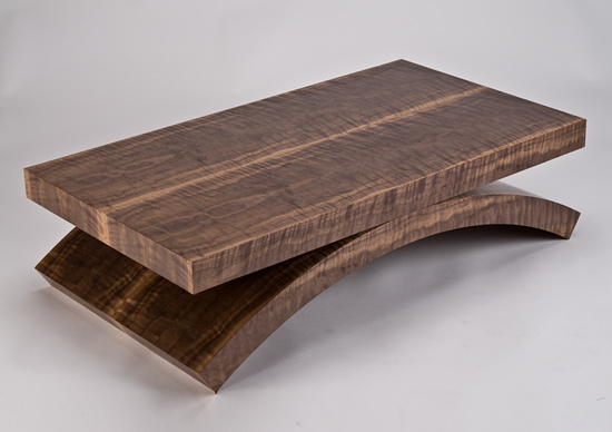 Black Walnut Rectilinear Coffee Table - Wood Coffee Table - by Enrico Konig