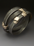 Gold & Steel Ring by Peg Fetter