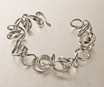 Silver bracelet by Rina S. Young
