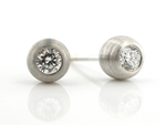 Platinum and Stone Earrings by Catherine Iskiw