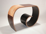 Wood Console Table by Kino Guerin