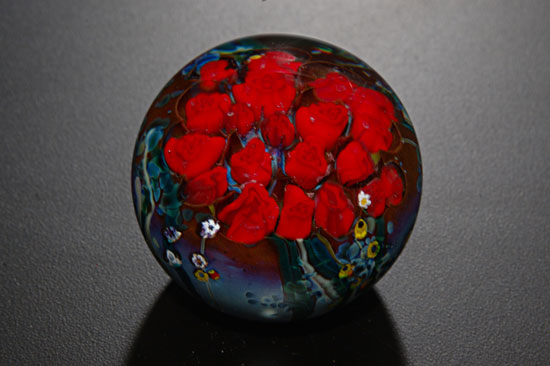 Roses Bouquet Paperweight - Art Glass Paperweight - by Shawn Messenger