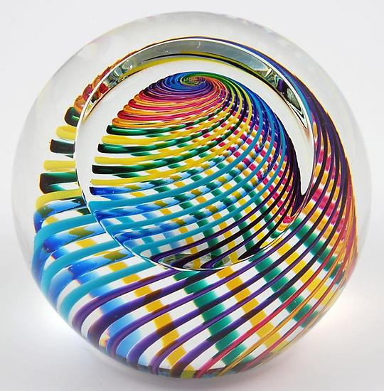 Zephyr Paperweight - Art Glass Paperweight - by Paul D. Harrie
