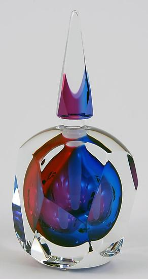 Sierra Perfume Bottle - Art Glass Perfume Bottle - by Paul D. Harrie