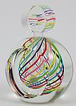 Art Glass Perfume Bottle by Paul D. Harrie