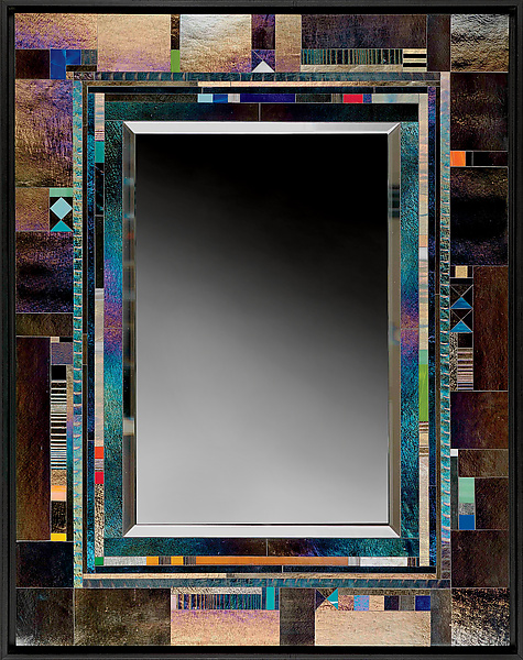 Stanza Mirror - Art Glass Mirror - by Thomas Meyers