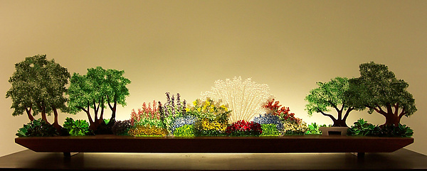 Perennial Hush - Art Glass Sculpture - by Bernie Huebner and Lucie Boucher