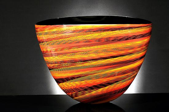 Color Weave Oval Bowl - Glass Bowls - by brian becher