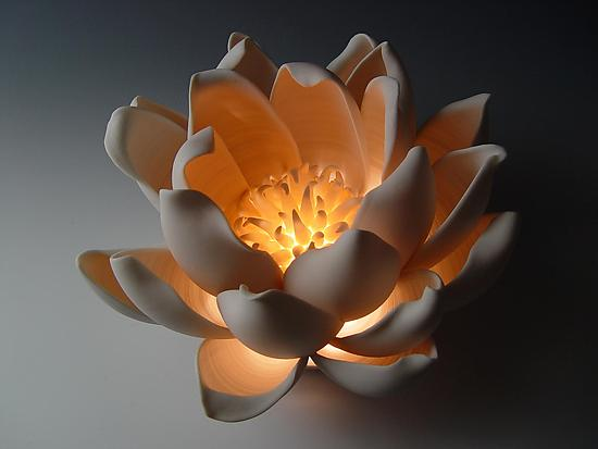 Tulip - Ceramic Table Lamp - by Lilach Lotan