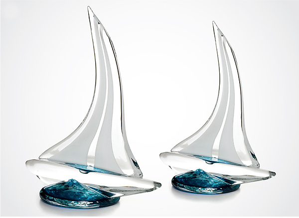 Glass Sailboat - Art Glass Sculpture - by Justin Tarducci, Michael Richardson and Tim Underwood