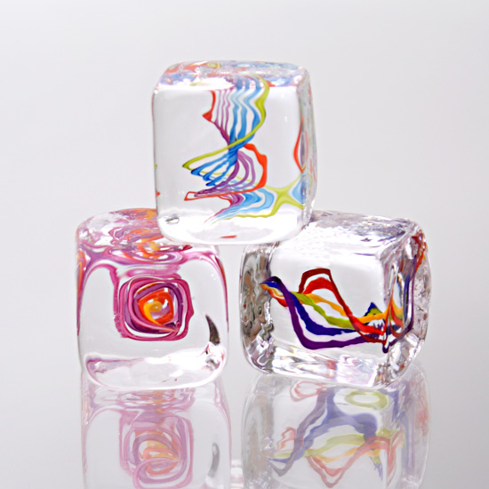 Squarbles - Art Glass Paperweights - by Nicholas Kekic