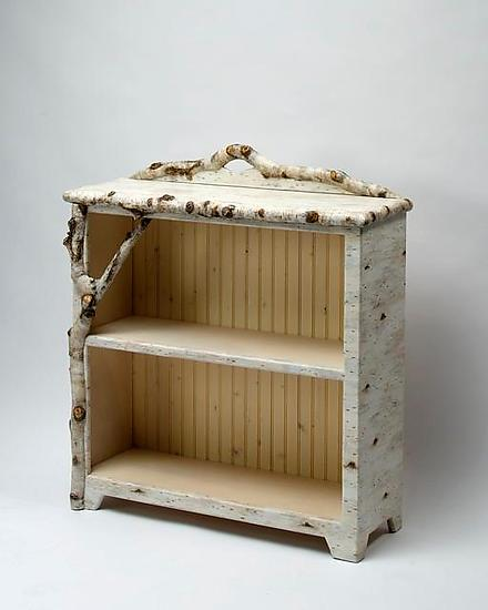 Birch Bark Bluff: Half Shelf - Wood & Resin Bookcase - by Mike Dillon