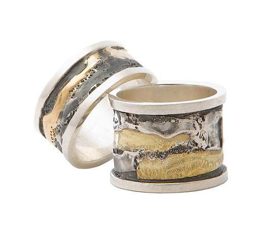 Spool Rings - Gold & Silver Ring - by Sonia Beauchesne