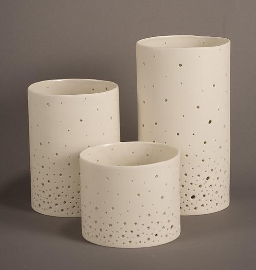 Starry Sky Luminaries - Ceramic Candleholders - by Tabbatha Henry