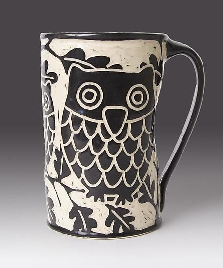 Owl Mug - Ceramic Mug - by Jennifer Falter